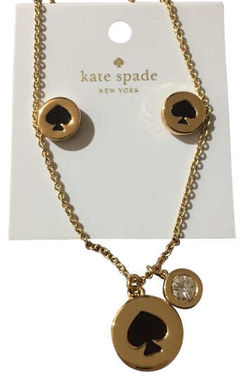 Preload https://img-static.tradesy.com/item/22320631/kate-spade-black-logo-spot-set-necklace-0-4-540-540.jpg