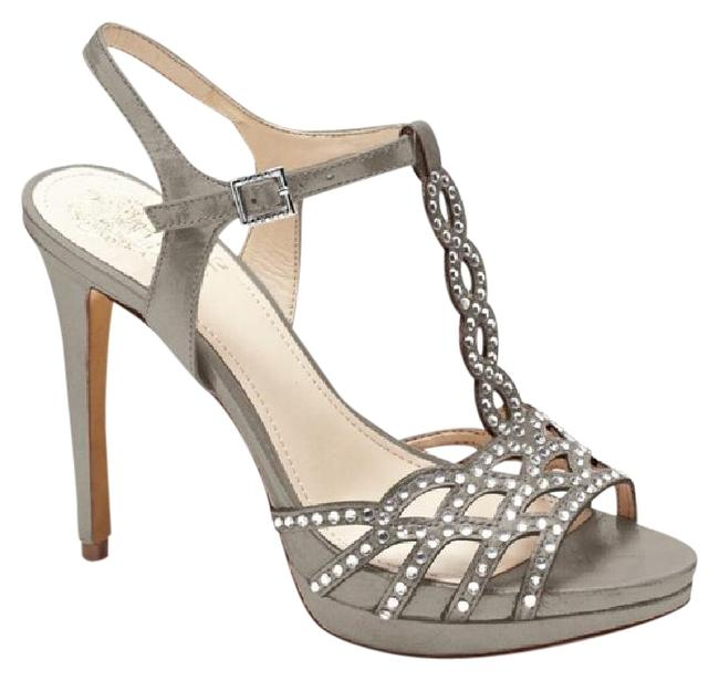 Item - Steel Vc- Cristiana Powdered Glitz Rhinestone Dress Heel Formal Shoes Size US 8 Regular (M, B)