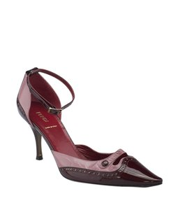 Fendi Patent Leather PinkxBurgundy Pumps