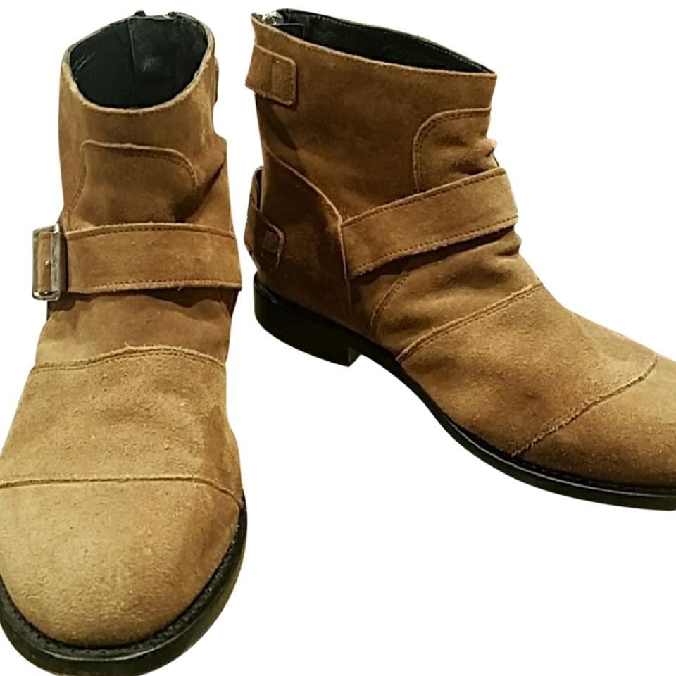 Balmain x H&M Tan Brown Boots/Booties Suede Boots/Booties Brown e2eb9b