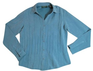 Lemon Grass Studio Button Down Shirt Teal