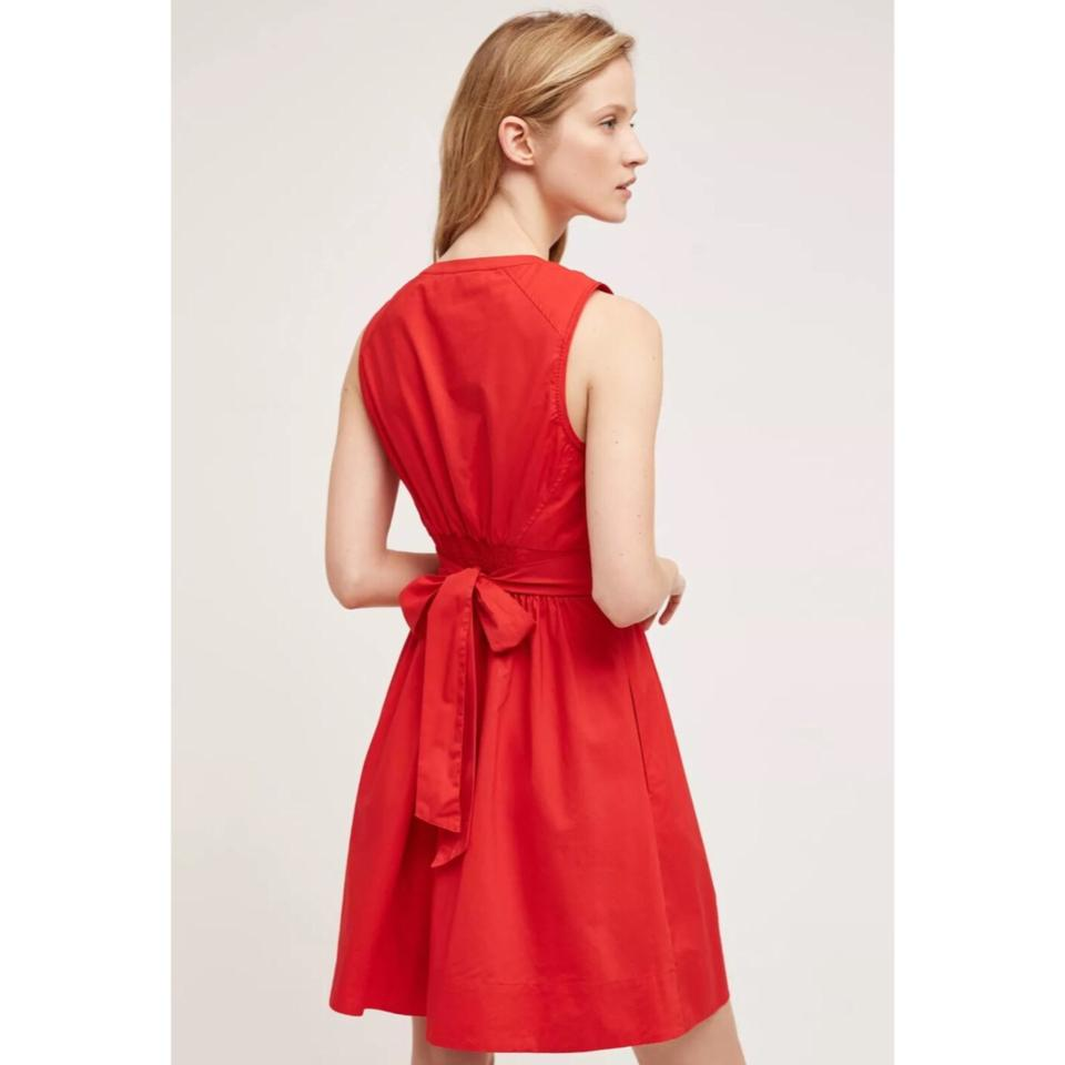 9e605120463 Anthropologie Red Adrian Short Casual Dress Size 6 (S) - Tradesy