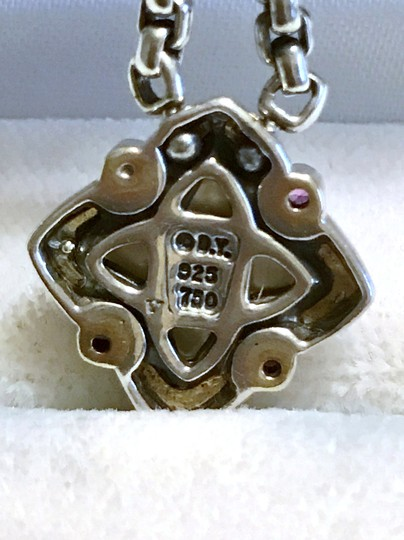 David Yurman STERLING SILVER / 18K GOLD QUATREFOIL PENDANT WITH MOTHER OF PEARL Image 9