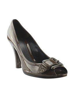 Fendi Patent Leather Brown Pumps