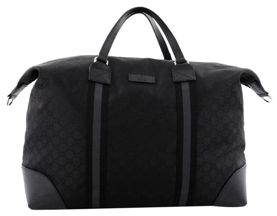 4dc50eba3 Gucci Duffle Convertible Web Gg Large Black Canvas Weekend/Travel ...