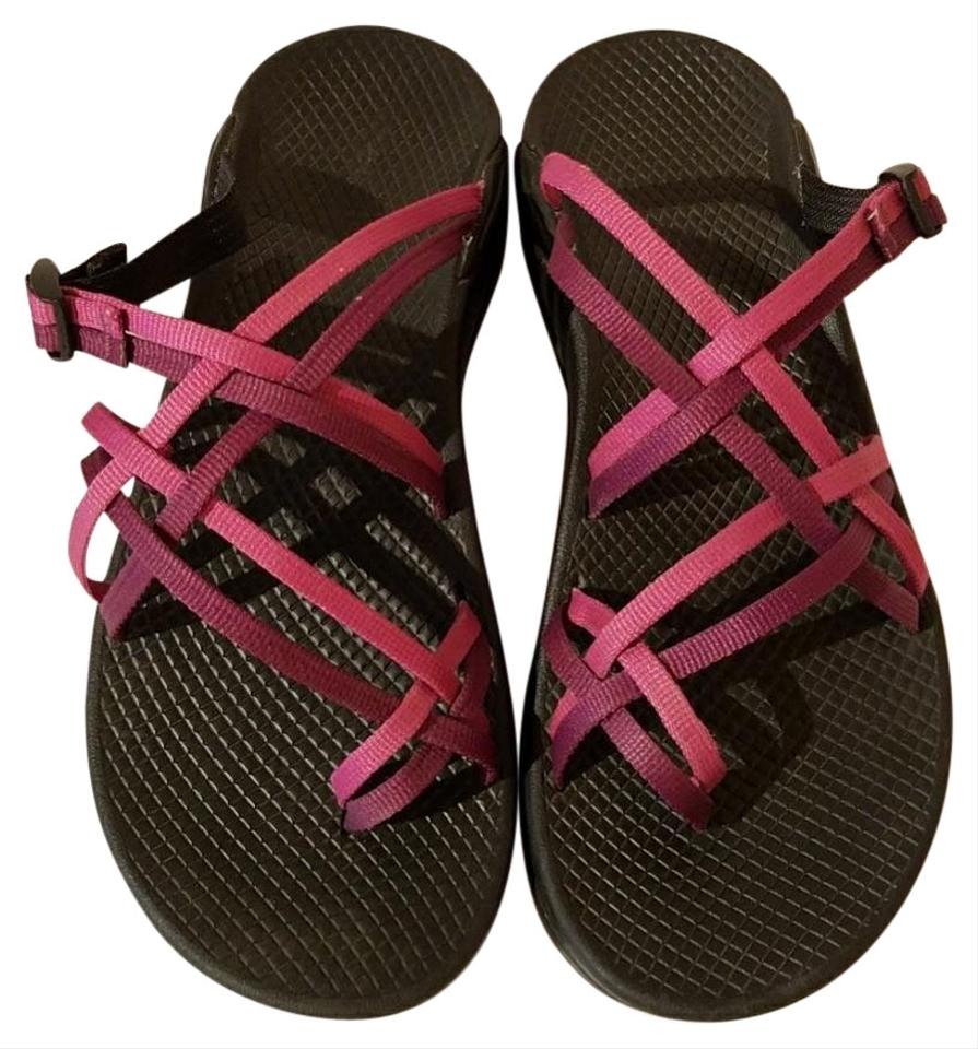 2748e2c7d5bb Chaco Pink and Purple Ecotread Sandals Size US 8 Regular (M