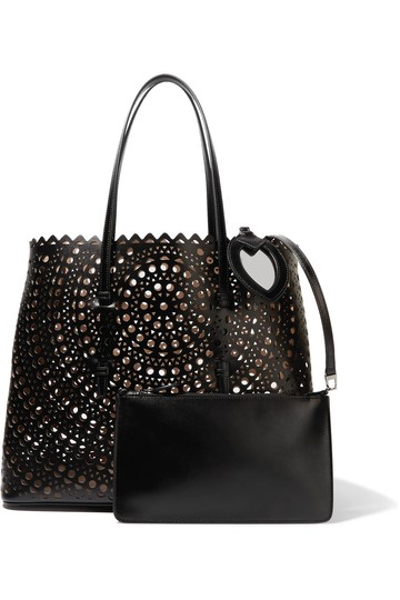 ALAA Vienne Laser Leather Tote in black Image 1