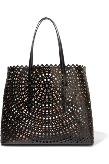 ALAA Vienne Laser Leather Tote in black Image 3