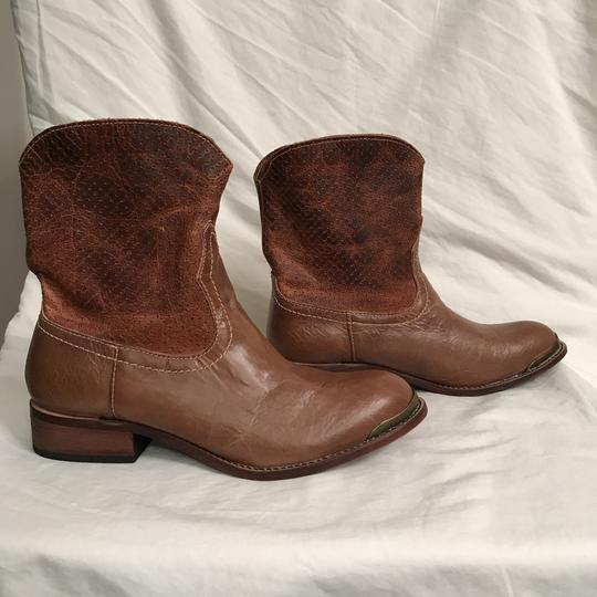 Lucchese Leather Distressed Western Cowboy Brown Boots Image 5