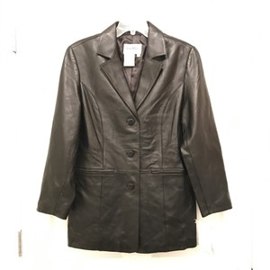 Pamela McCoy Blazer Designer Coat Dress Leather Jacket