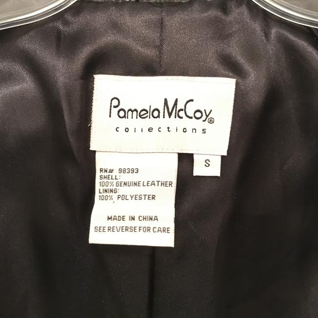 Pamela McCoy Blazer Designer Coat Dress Leather Jacket Image 4