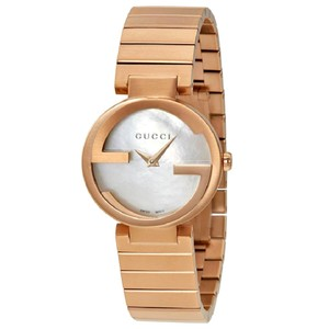 GUCCI Swiss Made Mother of Pearl Dial Ladies Bracelet Watch