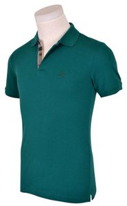 Burberry Brit Men's Veridian Check Pique Polo Small New T Shirt Green