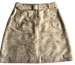 Tory Burch Mini Skirt light shimmer brown