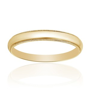 Avital & Co Jewelry Yellow Gold 14k Comfort Fit Men's Wedding Band