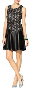 Tinley Road short dress Black Vegan Leather Lace on Tradesy