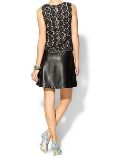 Tinley Road short dress Black Vegan Leather Lace Dropped Waist on Tradesy