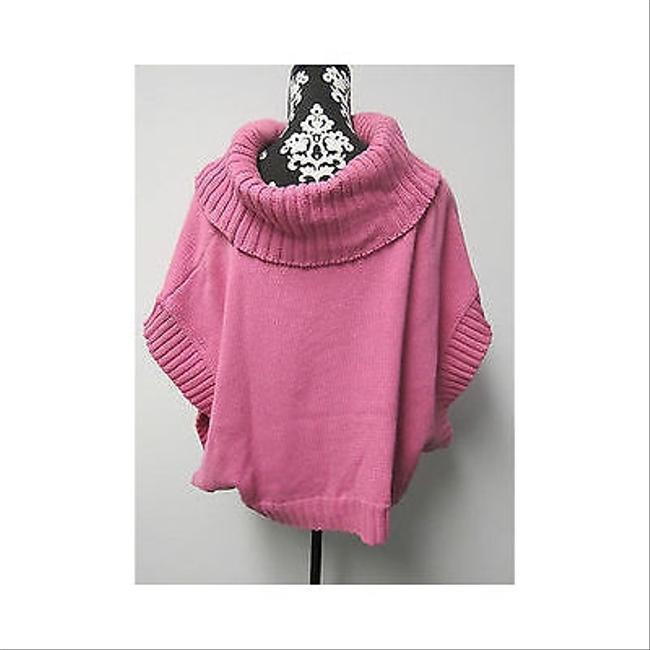 525 America Womens Over Sized Cowl Neck Poncho Sweater