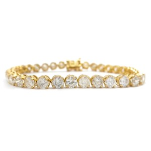 Yellow Gold 10.77ctw Diamond Tennis Bracelet