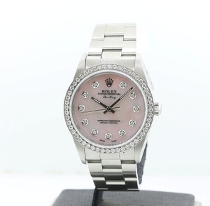 Rolex Rolex Air-King Stainless Steel Diamond Pink Mother Of Pearl Watch
