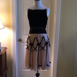 Prada Sheer Velour Chiffon Dryclean Only Made In Italy Dress