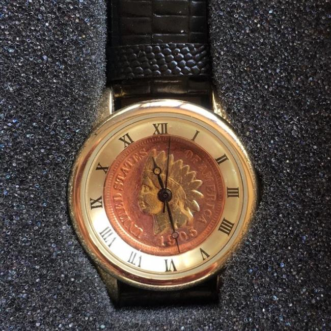 Item - Light Gold Indian Head Penny Coin Cn005g Watch