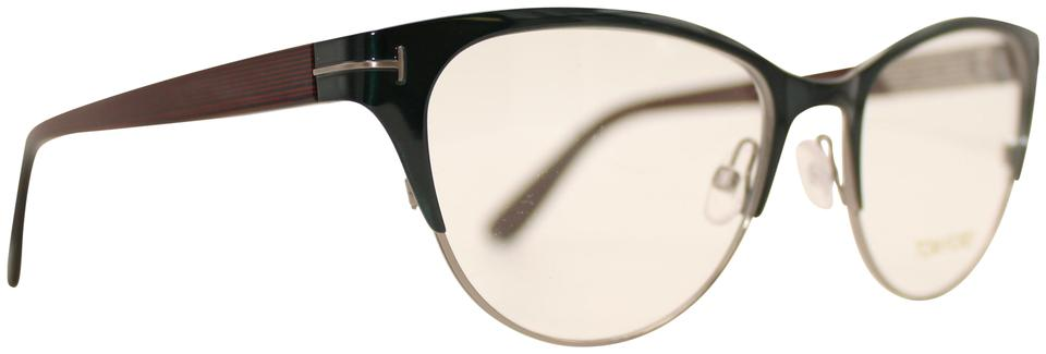 70de06e84e1 Tom Ford Satin Turquoise   Silver Cat Eye Rx Eyeglasses Tf 5318 089 ...