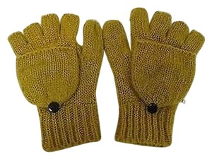 Unbranded,Fashion,Gold,Knit,Fingerless,Gloves,Mittens,With,Texting,Thumbs