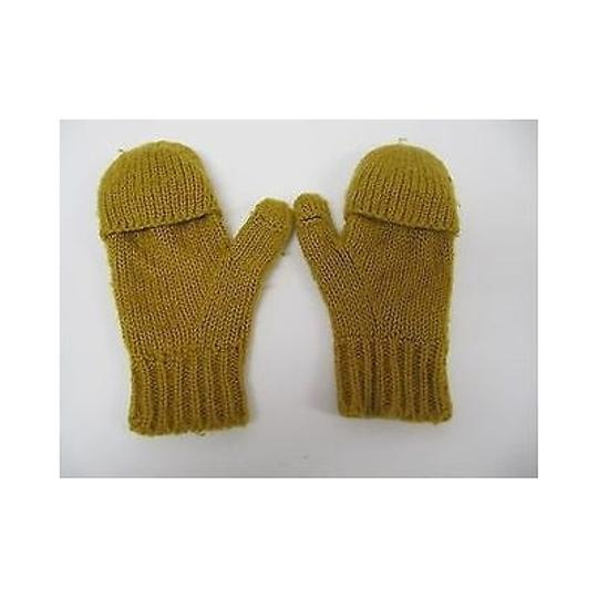 Other Unbranded,Fashion,Gold,Knit,Fingerless,Gloves,Mittens,With,Texting,Thumbs