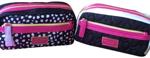 """Betsey Johnson (2) NWT Betsey Johnson Cosmetic Bags-BJ16120P """"Black"""" and """"Spot"""""""
