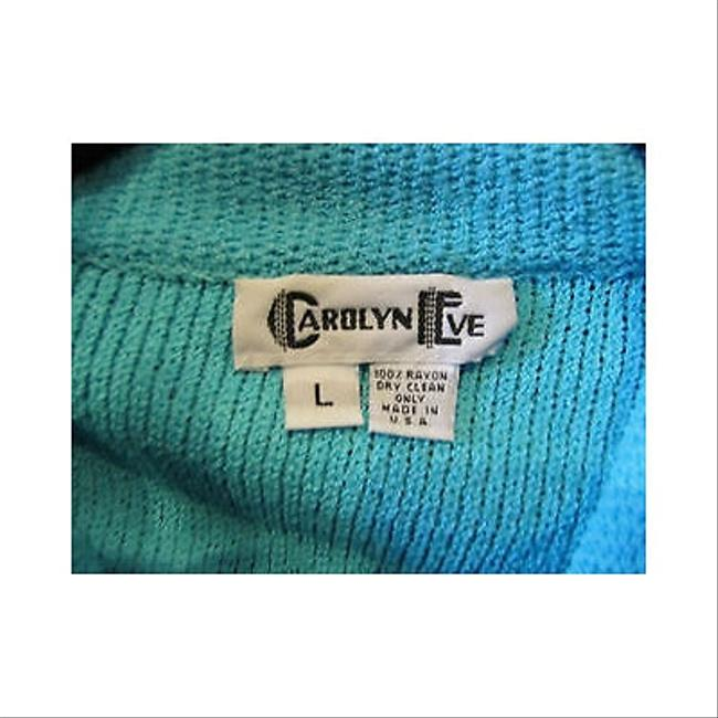 Other Womens Carolyn Eve Turquoise Cardigan Sweater