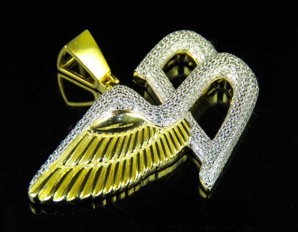 bentley gold yellow pendant diamond charm symbol b pnd logo flying genuine