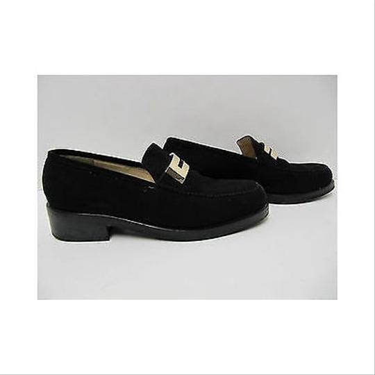 Gucci Suede Loafers 37-1/2 C Blacks Flats