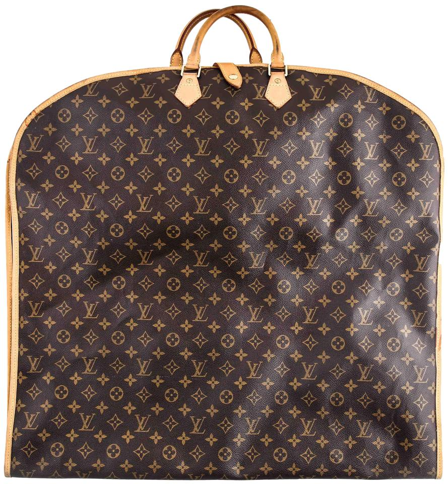 6befd88e944 Louis Vuitton Garment Cover Monogram Brown Coated Canvas Weekend/Travel Bag  50% off retail