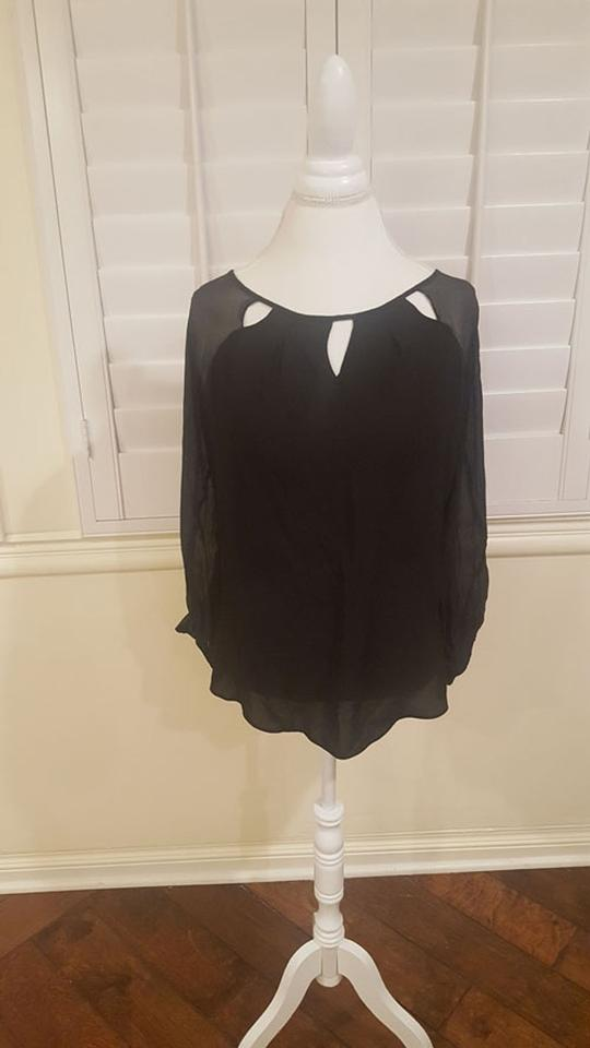 8d87df227965b8 Guess By Marciano Black Bell Sleeve Blouse Size 8 (M) - Tradesy