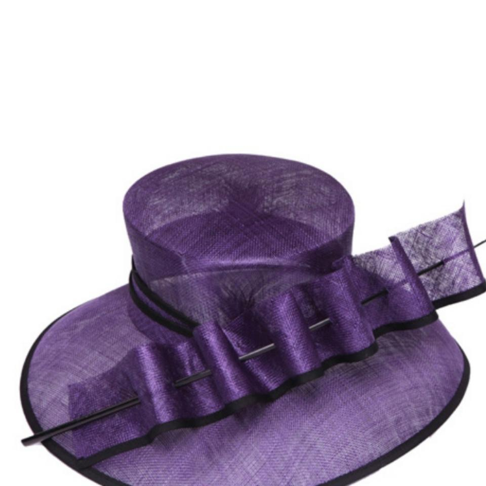 db8b2a802bf4d dressy hat Quill trim sinamay hat church hat formal hat wedding hat Image 0  ...
