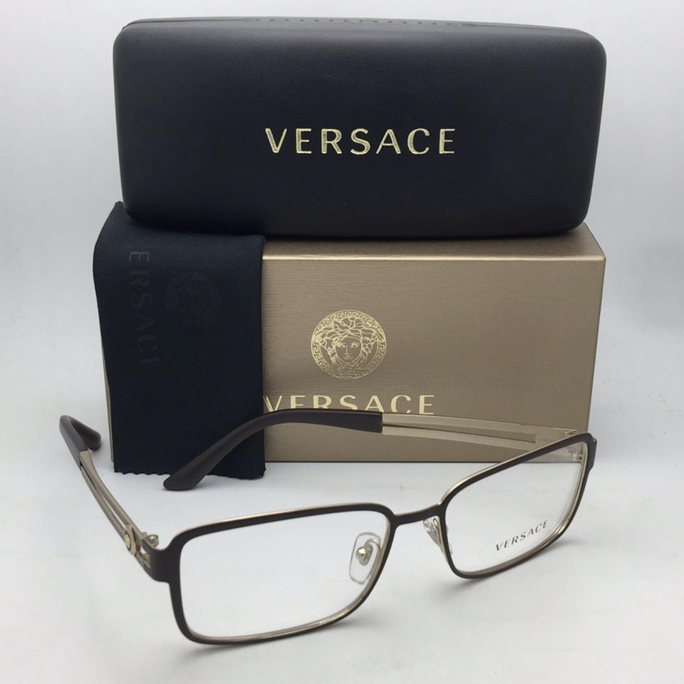 eb791ca3b7 Versace New VERSACE Eyeglasses 1236 1378 55-16 140 Matte Gold   Brown Frames  Image. 123456789101112