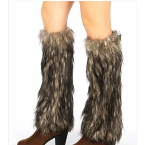 boot covers New Furry Leg Warmers Fur boot cuffs Fur Boot Covers