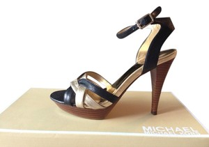 Michael Kors Black/Gold Platforms