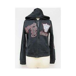 Other Princess Rhinestone Zipper Front Sweatshirt