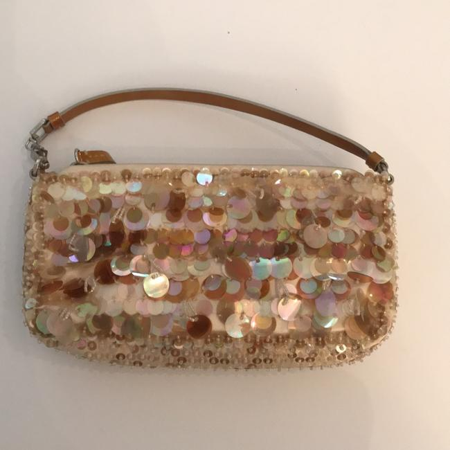 Item - Evening A Distinctive and Elegant From Crafted From Sequins. Pink Satin Shoulder Bag