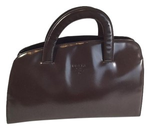 Prada Vintage 80s Handbag Satchel in Brown