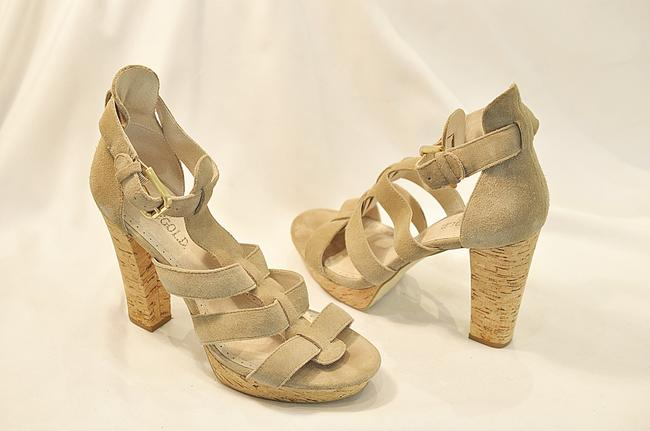 Item - Beige Sand Suede Strappy Sandals Size EU 37 (Approx. US 7) Regular (M, B)