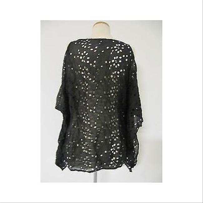Ella Moss Womens Eyelet Tunic Shirt Top Black