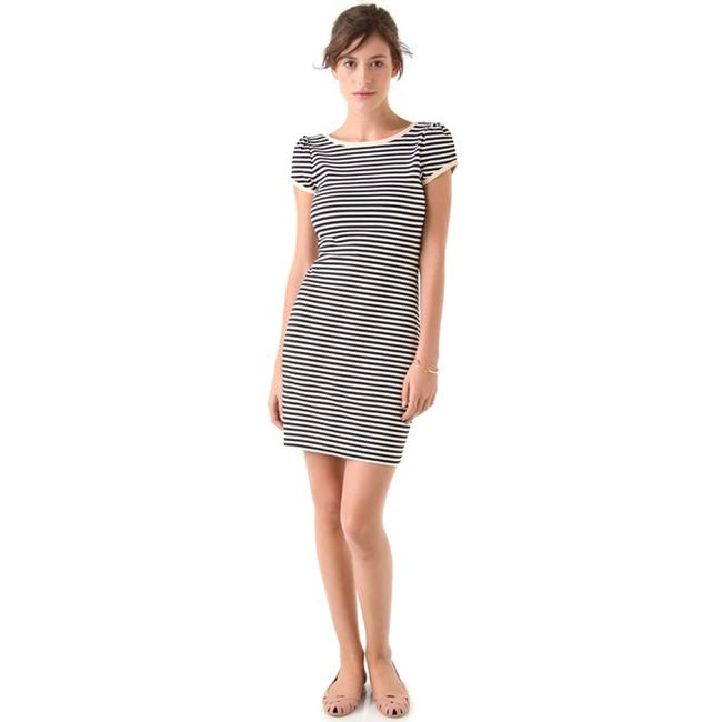 Juicy Couture short dress Blue & White Nautical Stripe Puff Sleeve Exposed Zipper on Tradesy