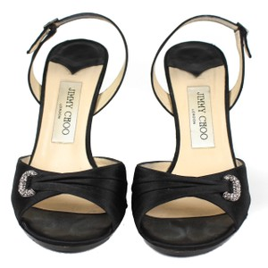 Jimmy choo Rinestone Evening Clasp Heels black Pumps