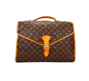 Louis Vuitton Monogram Leather Beverly Shoulder Tote in Brown