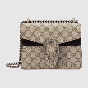 7456d06ab Gucci Dionysus Gg Supreme Mini Beige/ Black Suede Leather Shoulder ...