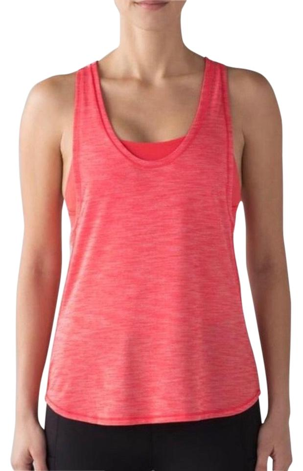 5a4a6e0575d57 Lululemon Coral Pink Glide and Stride Tank Top Cami Size 12 (L ...