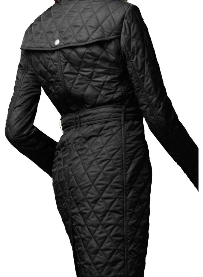 Burberry Black Brit Diamond Quilted Mid Length Coat Jacket Coat Size 0 Xs 69 Off Retail